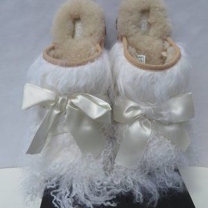 UGG Classic Coquette Mongolian Slippers 8 NEW